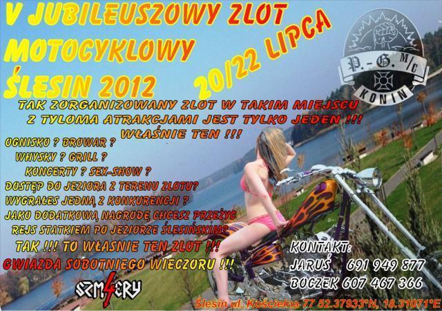 V Zlot Motocyklowy SLESIN Poland, 20-22.08.2012