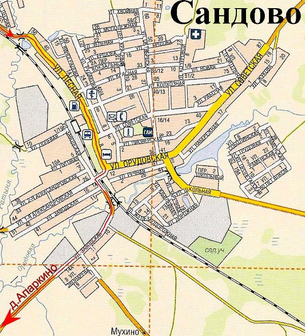 Карта Сандовского Района Тверской Области