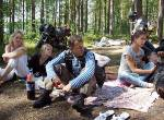 On August, 1st 2010, Club motor-departure in Semiozere on lake, shish kebabs